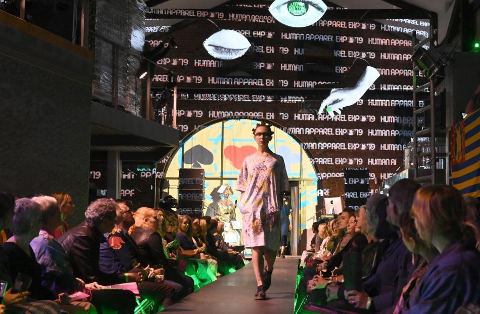 At the iD Dunedin Fashion Week on Saturday, is Steep Street's Rachel Blackburn on the catwalk at...