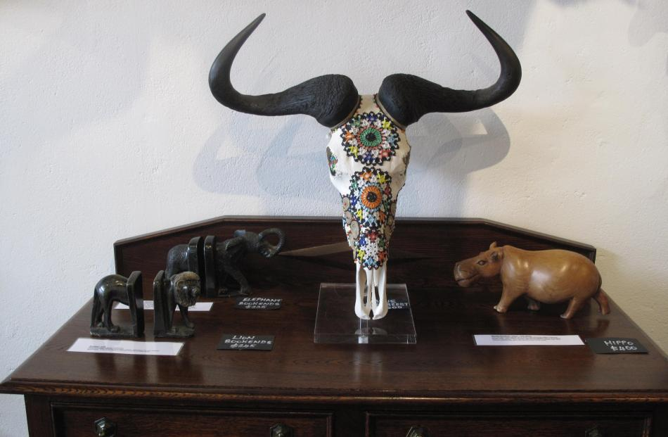 Animal skulls are another speciality.