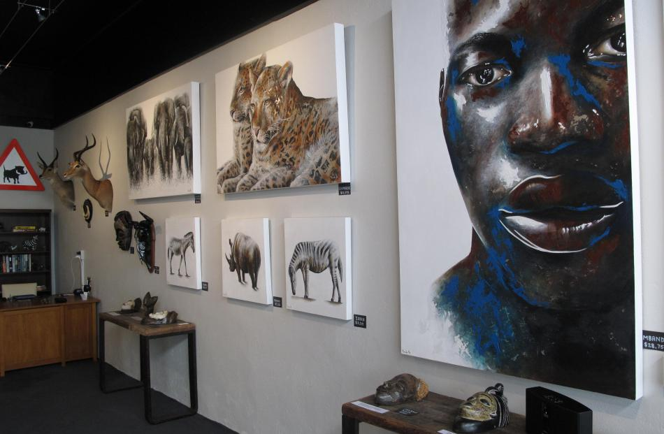 The work of South African artist Junaid Sénéchal-Senekal is on display.