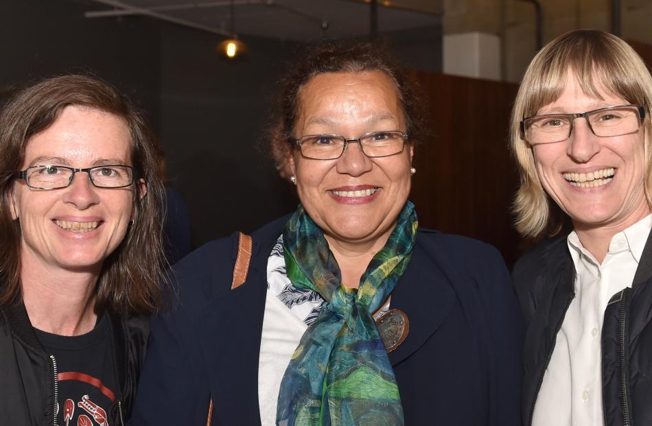Josie Haines, Christiane Leurquin and Silvie Kuhn, all of Dunedin.