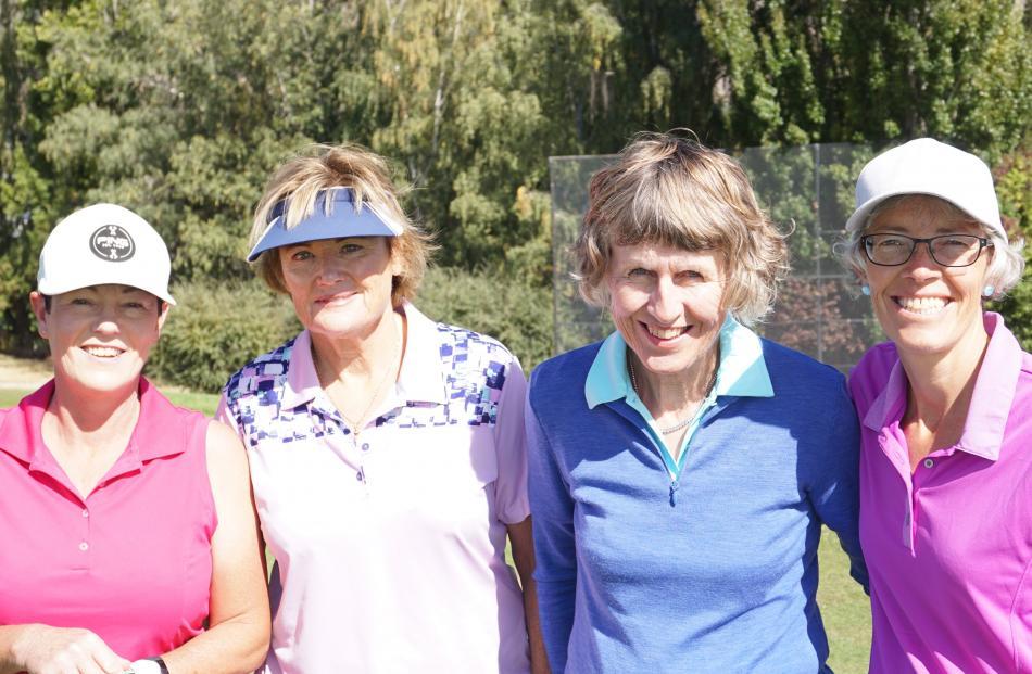 Holly Davies, Margo Hewitt, Suzie Baillie and Carmel Hyndman, all of Wanaka.