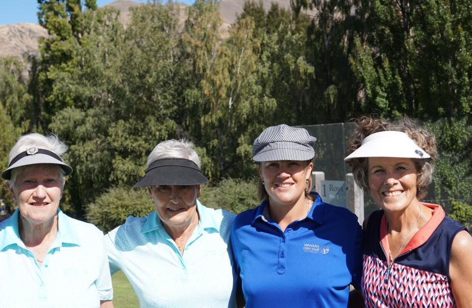 Noelene Raffills, Heather Malcolm, Tania Waghorn and Diane Webster, all of Wanaka.