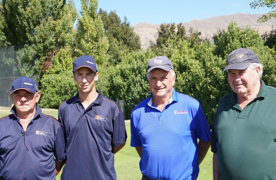 Jim Paddon, of Waikaka, Nick Enright, of Hawea, and Tony Brent and Stewart Anderson, both of Wanaka.