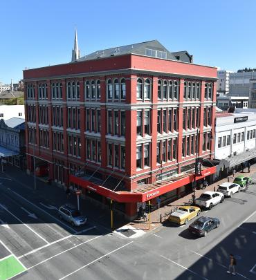 The Chamberson Hotel redevelopment by Chris and Nick James, at 77 Stuart St in Dunedin, received...