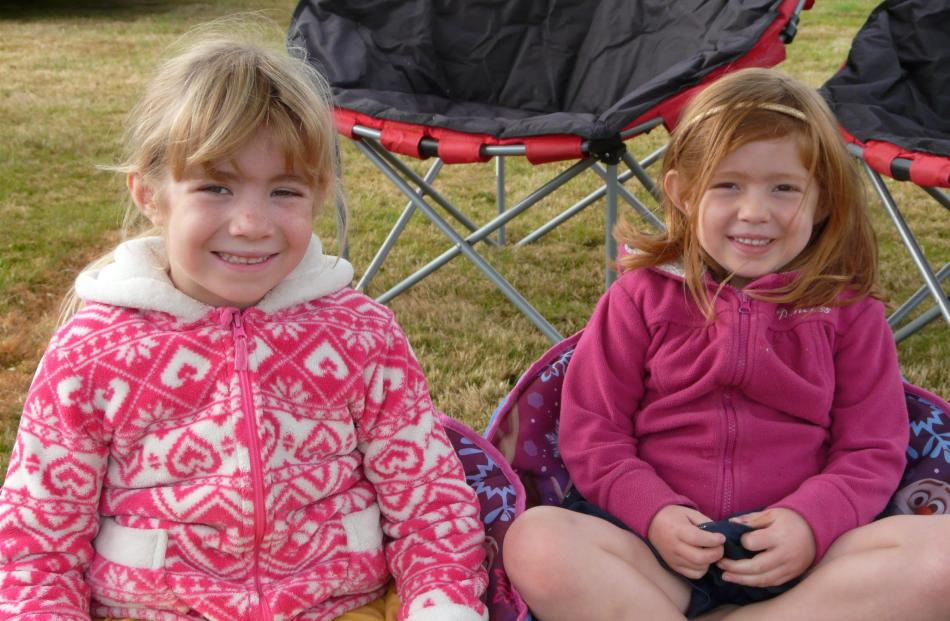 Libby (6) and Caitie (4) Bryan, of Dunedin.