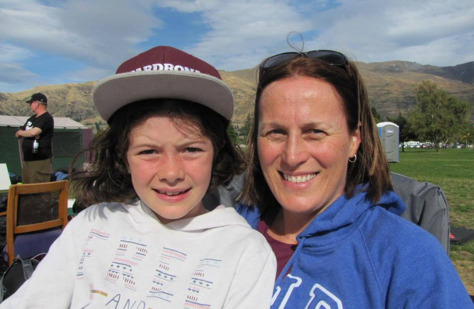 Jessie (9) and Steph Drabble, of Cardrona.