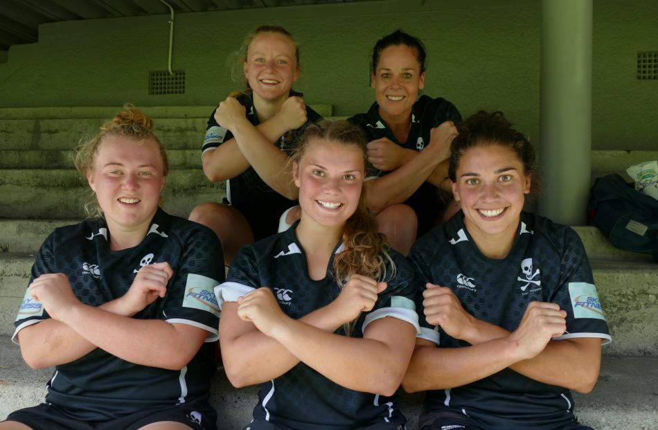 Back: Holly Cotton and Ness MacDonald; front: Gemma Miller, Morgan Walker, and Sheree Hume, all...
