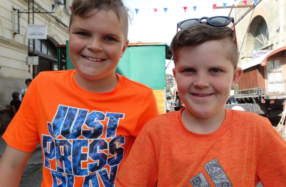 Toby (11) and Jamie (8) Kerr, of Dunedin.