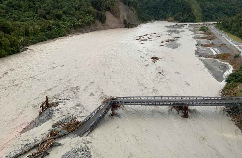Aerial photos have revealed the scale of the damage at Franz Josef. Photo: Wayne Costello, DOC