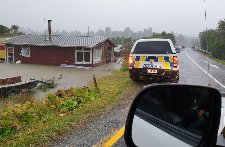 A house in Waiatoto, near Haast, was flooded after the area was hit by heavy rain. ...