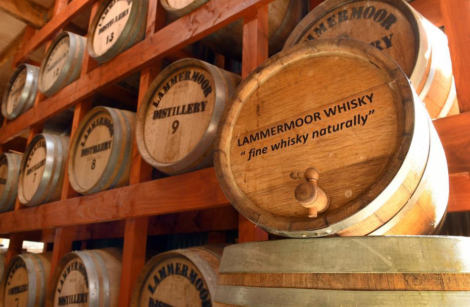 Lammermoor whisky matures in oak barrels.