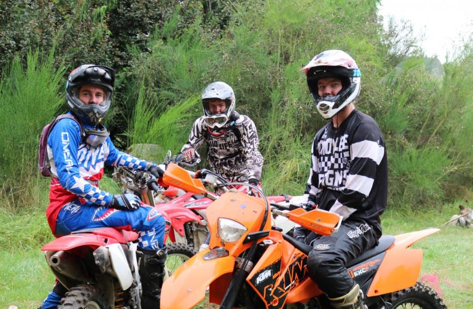 Riders take a rest during the Danseys Pass Trail Ride. Olly Jones (left) Aaron Jones (centre)...