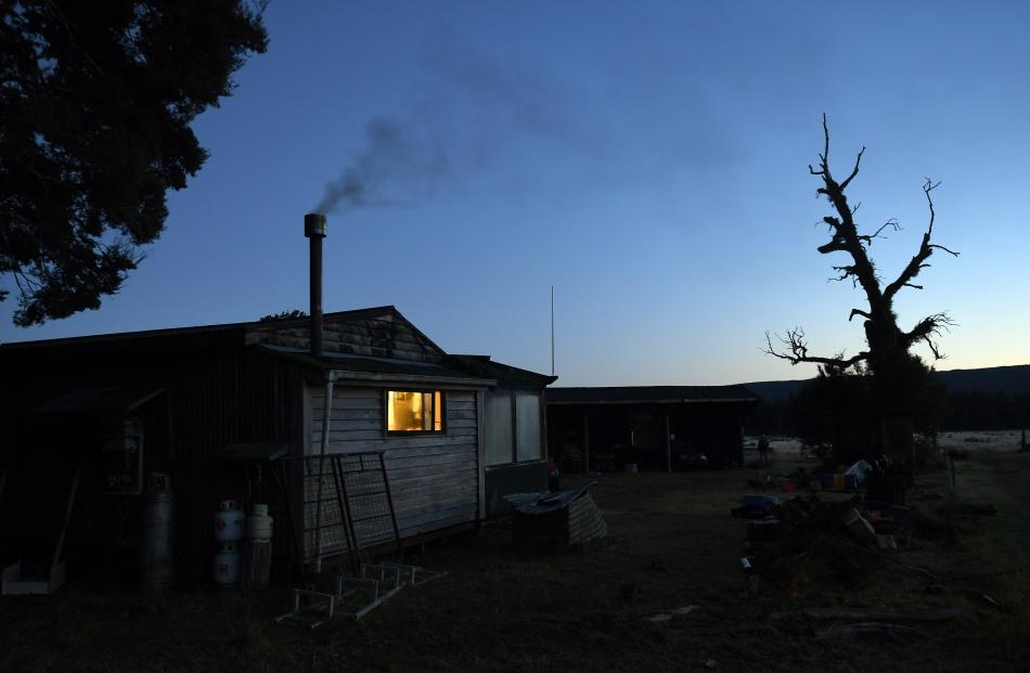 Coffee, sausages, eggs and toast are on the go as daylight breaks in the Cascade Valley.
