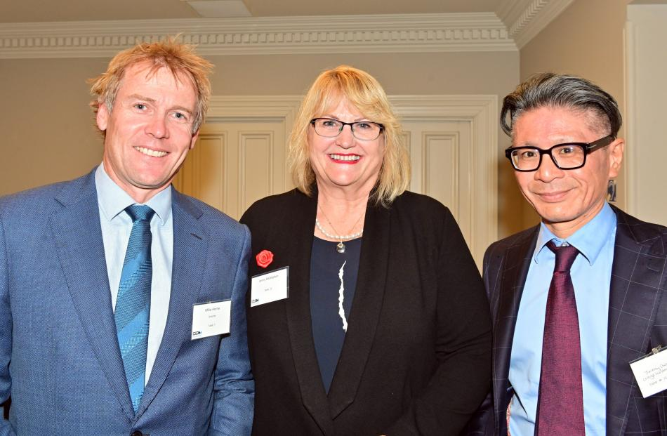 Mike Horne, Jenny McMahon and Jeremy Chang, all of Dunedin.