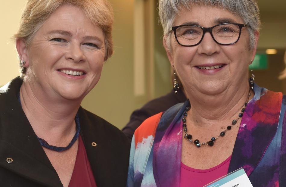 Sharon Hannaford, of Dunedin, and Margaret Larsen, of Lawrence.