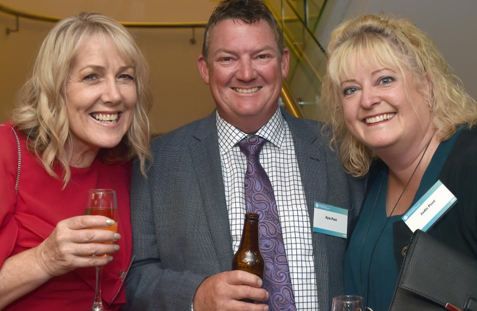 Karilyn Witterick, of Ashburton, and Kyle and Jodie Pont, of Alexandra.