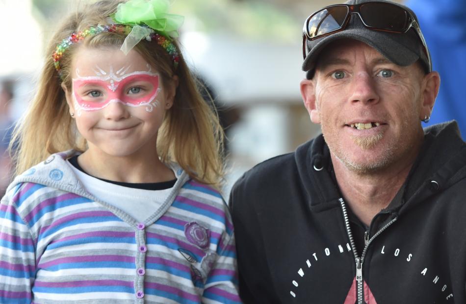 Quinn (7) and Adrian Smith, of Dunedin.