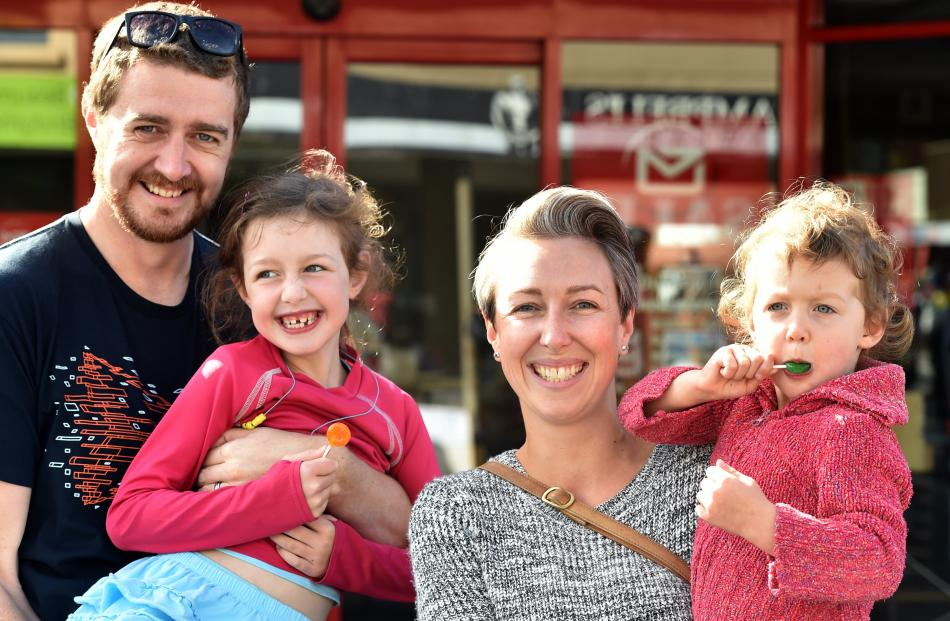Ian, Bethany (6), Naomi and Zara (2) Simpson, of Dunedin.