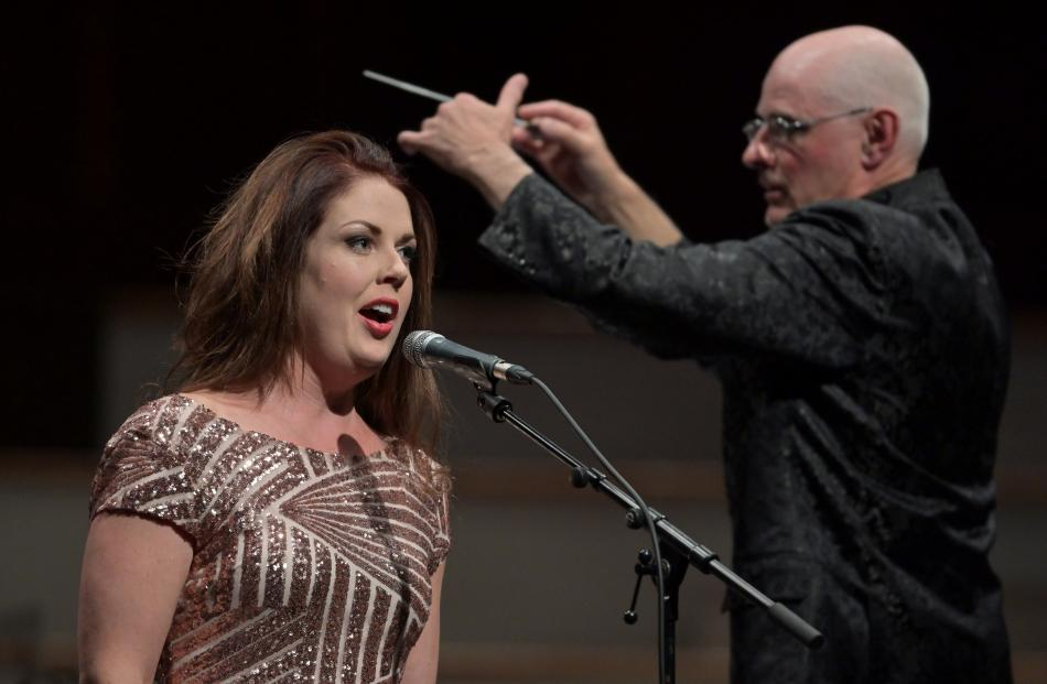 Anna Leese performs Man With No Desire as Peter Adams conducts.