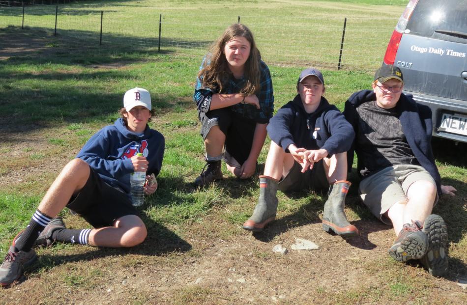 Dunstan High School pupils (from left) Adam Borland (16), Dylan Tapper (16), James Miller (15)...