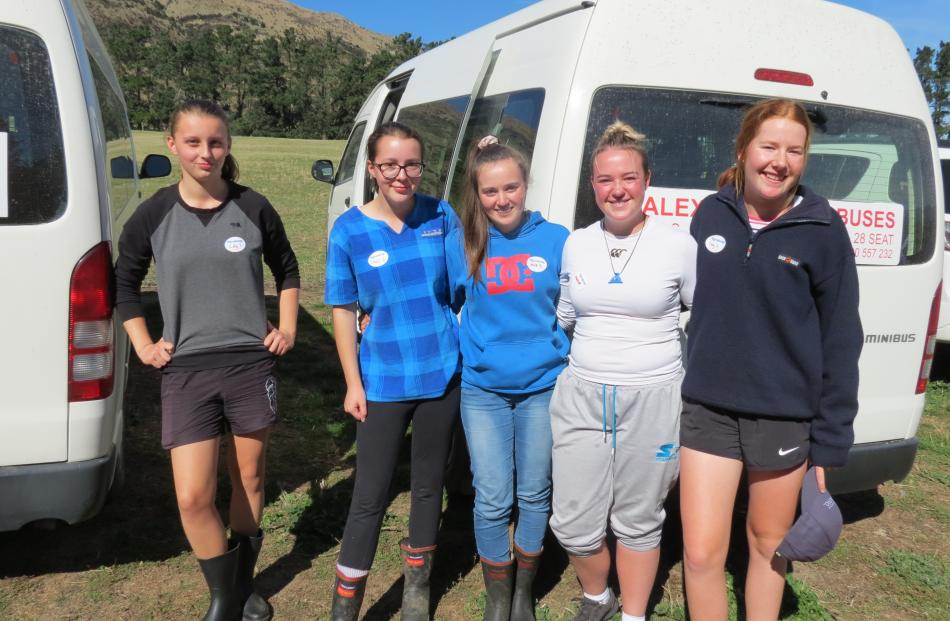 Dunstan High School pupils (from left) Lily Mohr (15), Cassie Creft (15), Mia Tudor (15), Hannah...