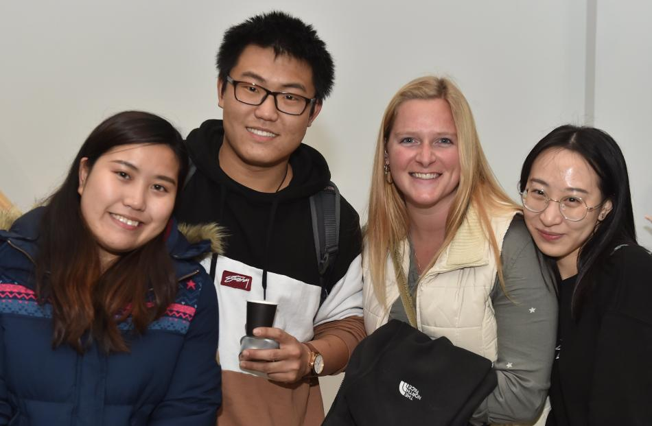 Tracey Lee, Shunda Ma, Dena De Kryger and Yuxin Luo, all of Dunedin.