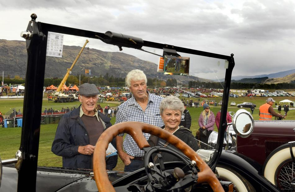 Wanaka trio (from left) Keith Barclay and Simon and Danni Stewart admire an immaculate 1918...