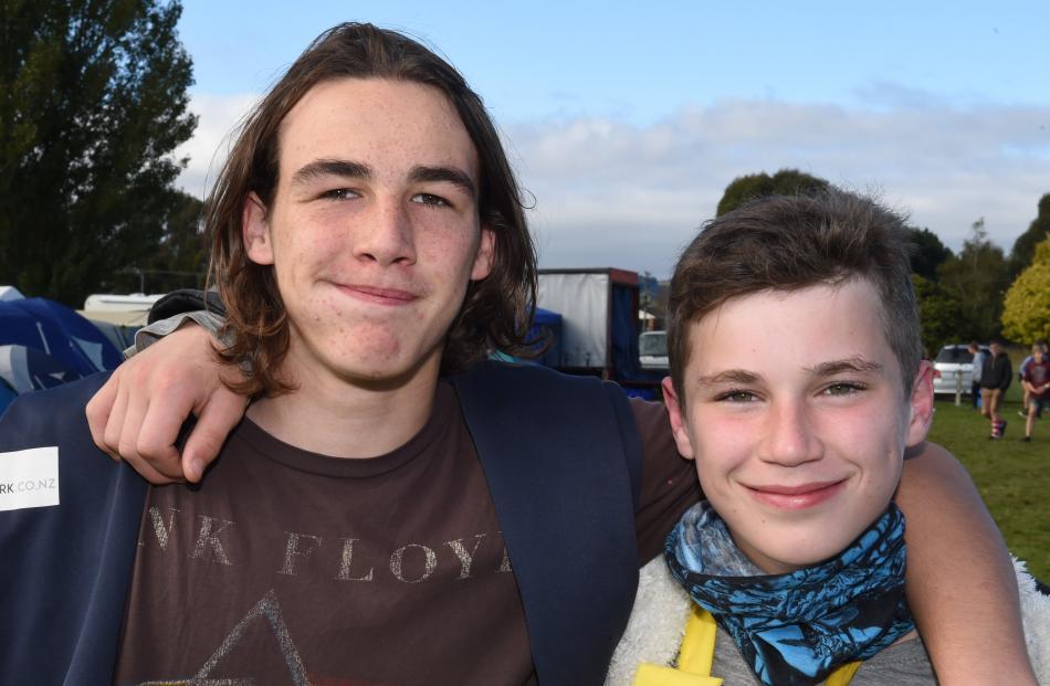 Chris Klemetson (13) and Nicholas Tucker (14), both of Dunedin.