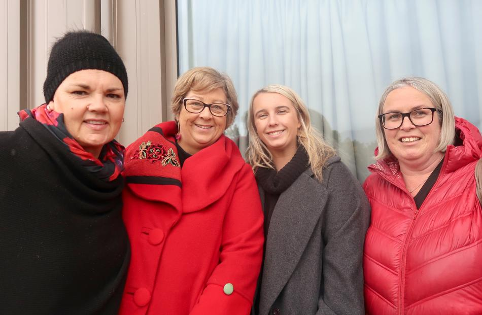 Kirsten Dennison, Donna Harpur-Swain, Grace Swain and Serena Carr, all of Arrowtown.