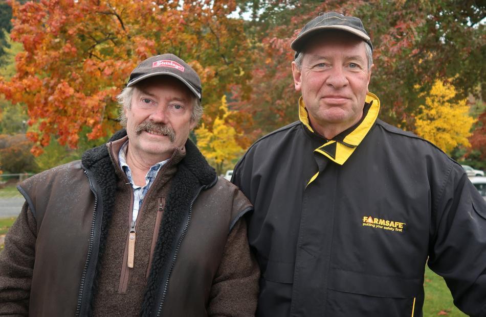 Graham McDonald, of Arrowtown, and Jeff Clark, of Christchurch.