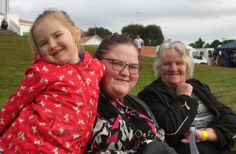 Three generations of Collins - Ayla (3) with mum Alisa Collins and grandmother Sue Collins, of...