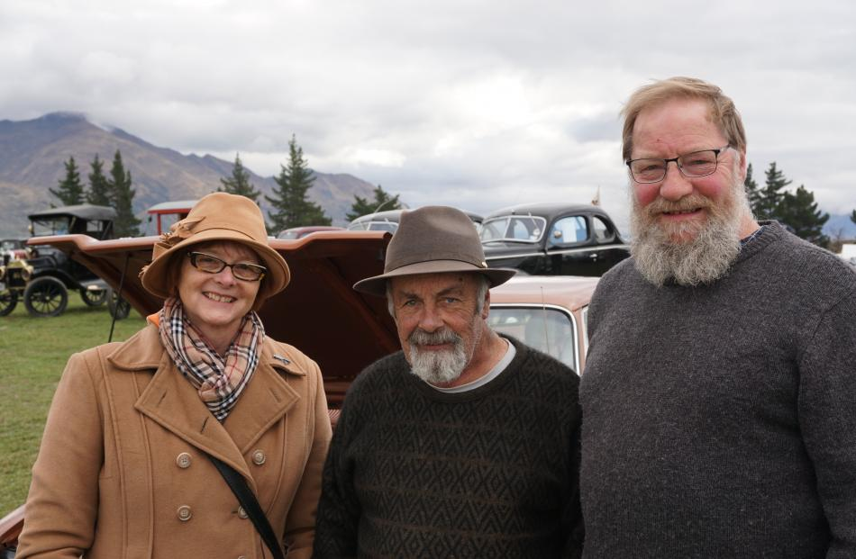 Simone Montgomery, Trevor Baines and Norman Riley, all of Port Chalmers.