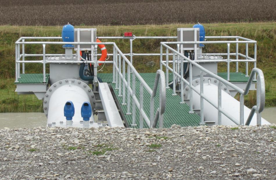Water is taken from the Rangitata Diversion Race on the edge of the site.