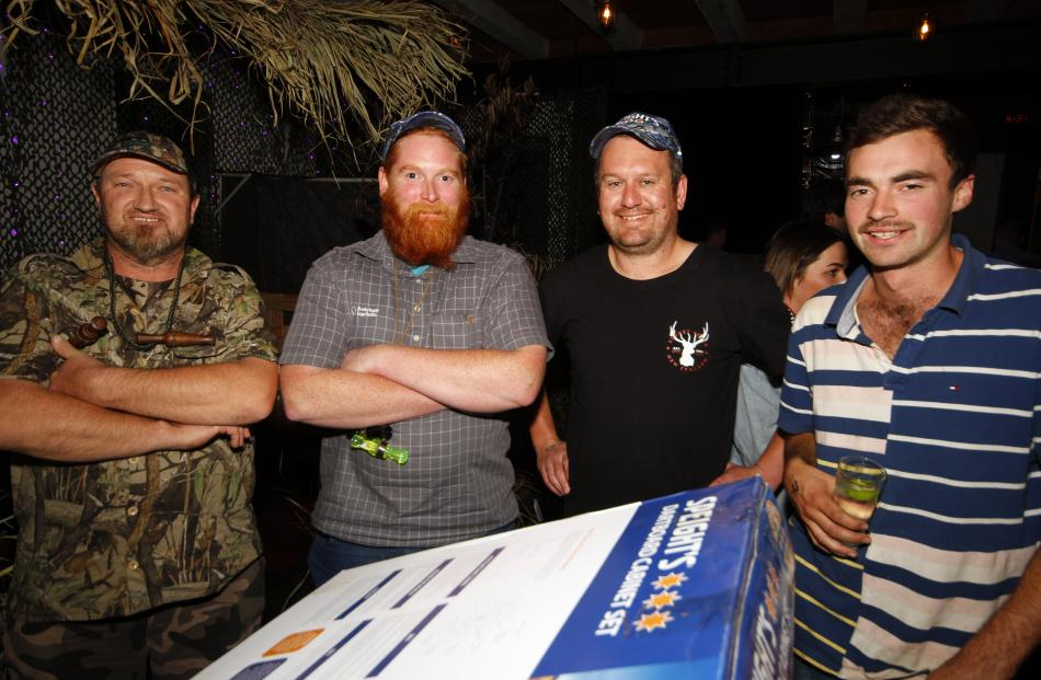 Contest placegetters (from left) Garth Sutherland, of Invercargill (1), John Hunter, of Wyndham ...