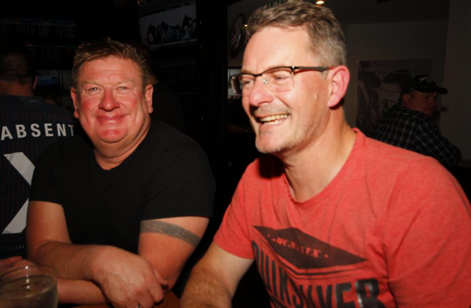 Graham Williamson, of Cromwell, and Paul Riley, of Invercargill.P