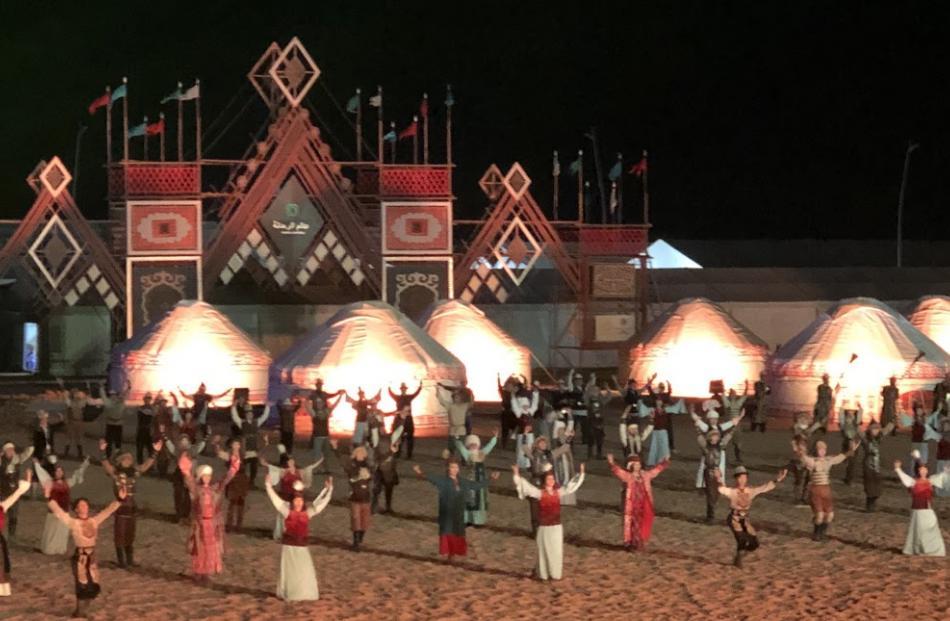 Performances at the Nomad Games. Photo: Deborah Heron