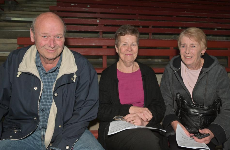 Trevor Miller, of Mosgiel, Joyce Joyce, of Dunedin, and Trevor's wife, Beverley.