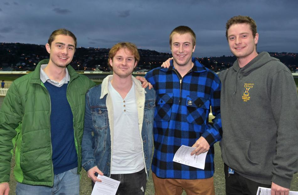 Axel Martinez, Connor Howett, Matt Robinson and Harry Becker, all of Dunedin.