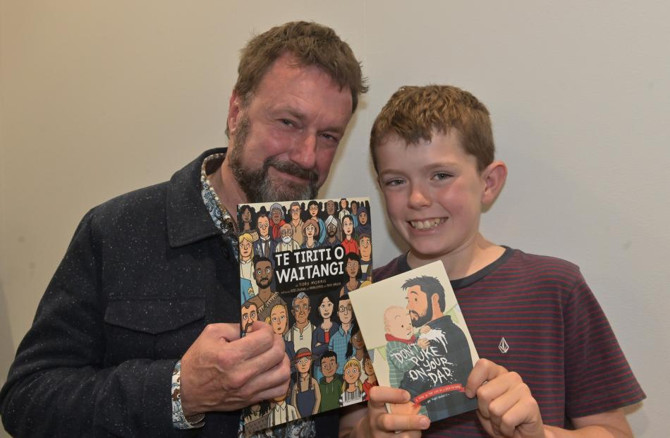Ian McGee and his son Sam (11), of Dunedin.