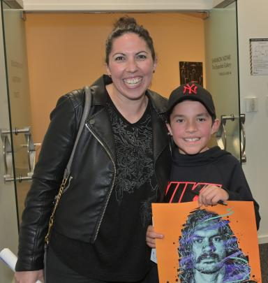 Emma Wyeth and her son Kura Stevens (9), of Dunedin.