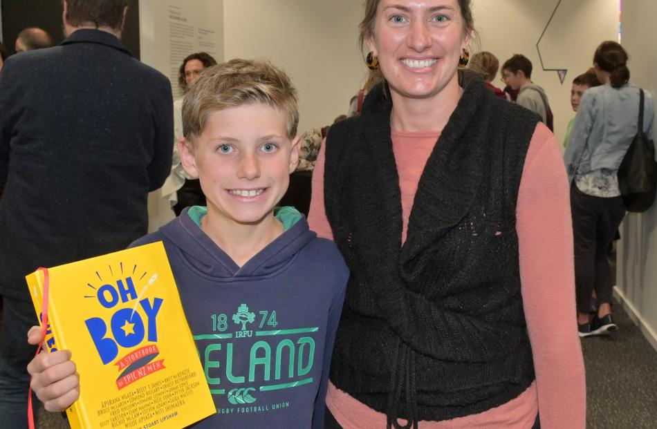 Lewis Marr (9) and his mother Lucy, of Dunedin.