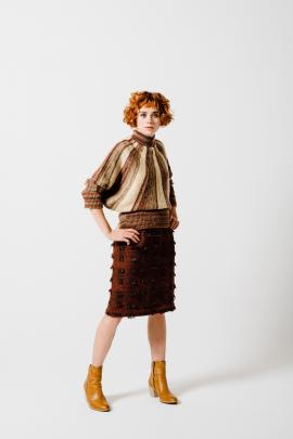 ''I adore the textured skirt and then I came upon the stunning hand-dyed hand-knitted jersey.''