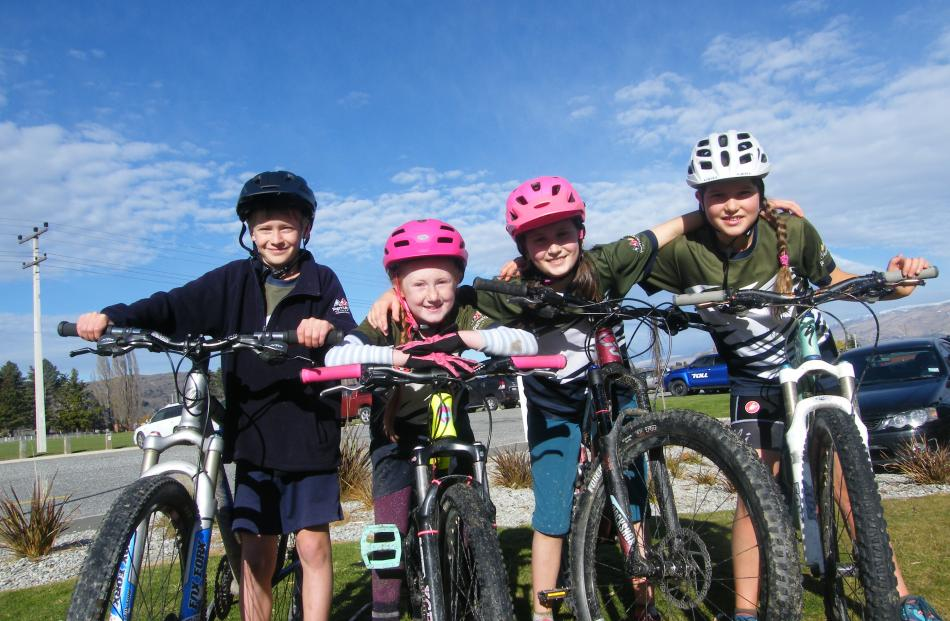Remarkables Primary School pupils (from left) Oli Watson, Nyah Buckland, Cerys Phillips and Alma...