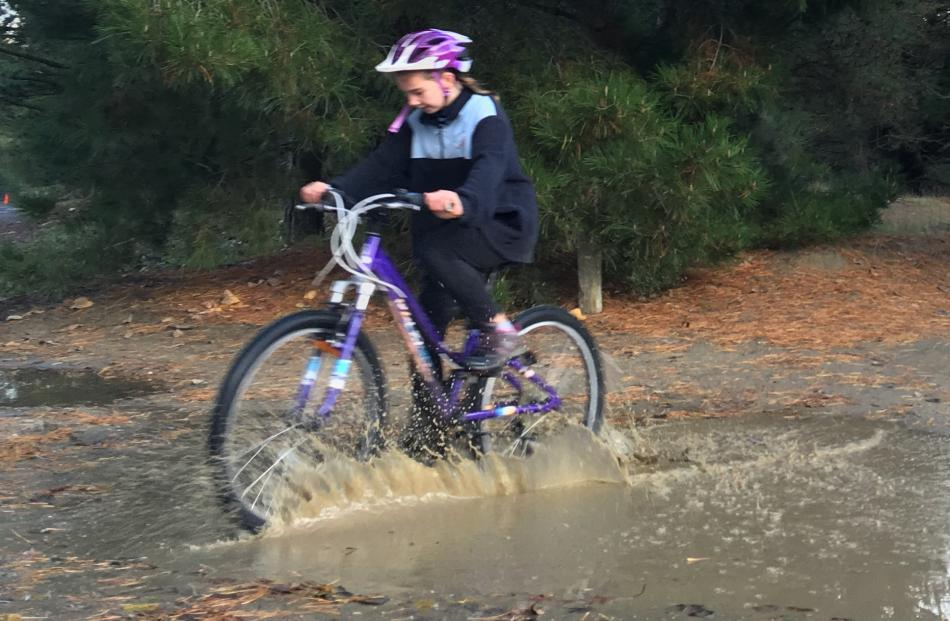 Queenstown Primary's Jaliah Rickerby (10) on the home stretch