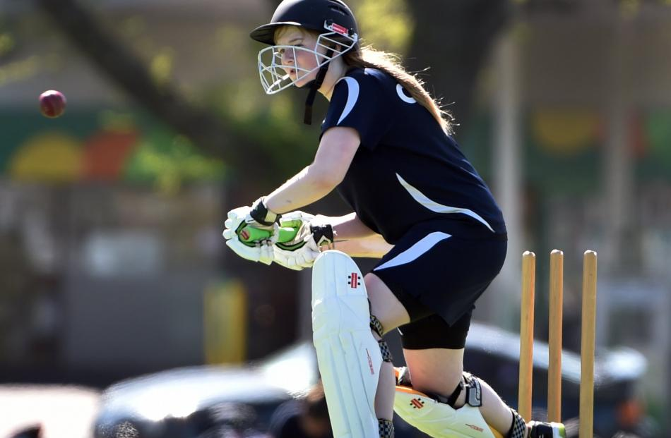 Otago Girls' High School's Rebecca Dean bats for Otago Girls' High School during a cricket match...