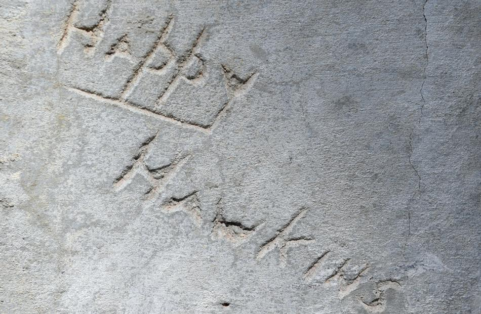 "James Eric Hawkins, aka ""Happy"" Hawkins, left his mark in 1943."