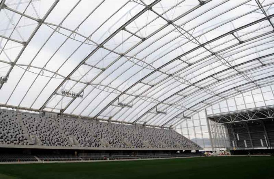 Forsyth Barr Stadium nears completion.