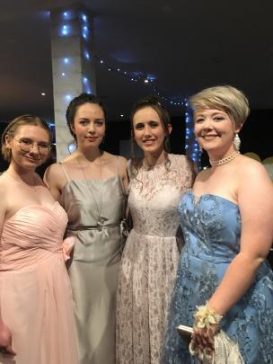 Samantha Bowen (18), Hazel Smith (18), Carwen Williams (17) and Tabbitha McCombe-Rae (17).