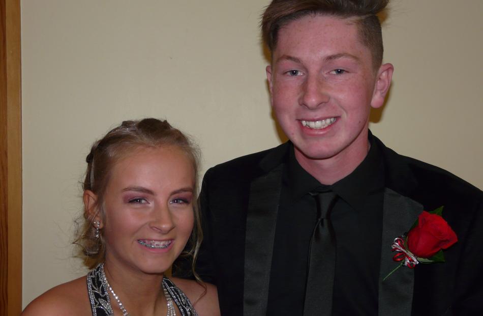 Saskia Smith (15), of Gore, and Brayden Gardyne (16), of Tapanui.