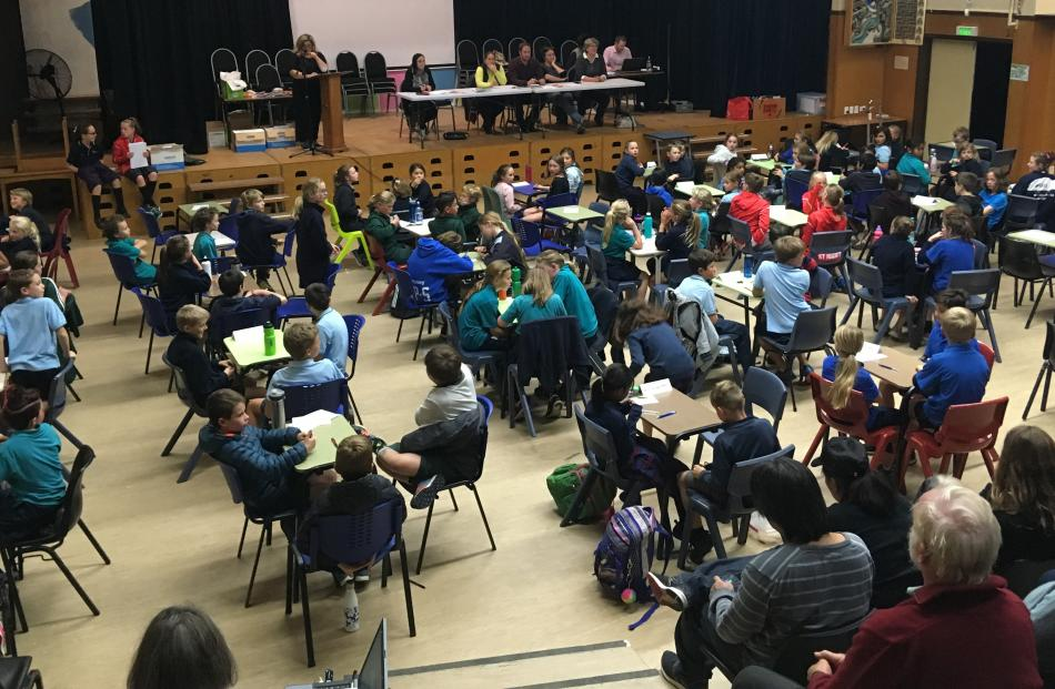 Last night's first quiz included 28 teams of year 5 and 6 pupils. Photos: Adam Burns